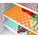 Kuber Industries™ Refrigerator Drawer Mats/Fridge Mats/Multi Purpose Mats Set of 6 Pcs in Coin Design (Multi) (FRDM03)
