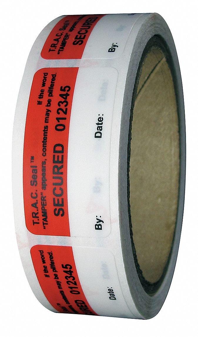 Tamper-Evident Tape, 1In x 2In, PK250