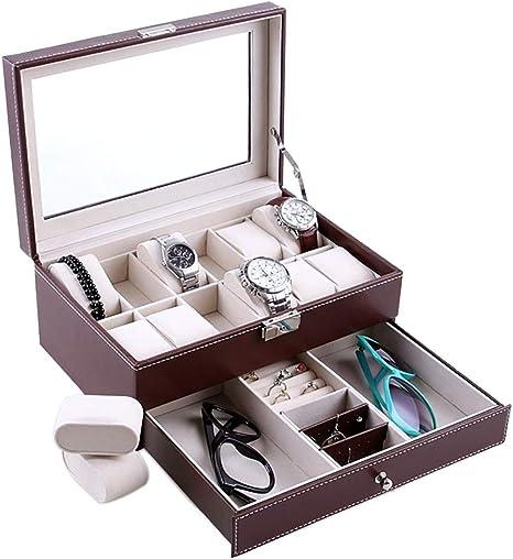 Feibrand PU Reloj Caja para Relojes/Pulseras: Amazon.es: Relojes