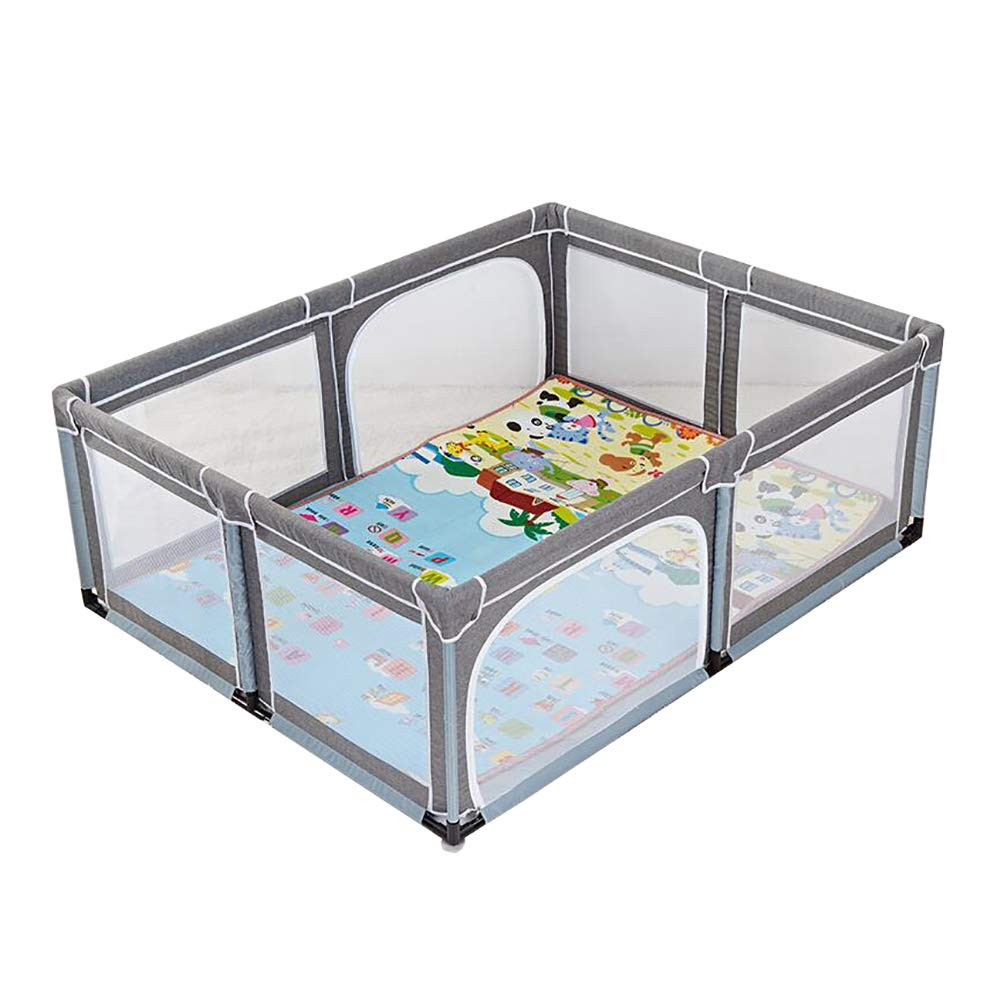 Infant Toddler Fence Household Shatter-Resistant Toys House Baby Game Playpen Children's Safety Fence Crawling Bar with Mat, Height 70cm, Size Optional (Size : 150×190cm) by Child safety gate (Image #1)