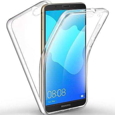 negozio online b564b 14043 AROYI Cover Huawei Y5 2018 Huawei Honor 7s Custodia Transparent Silicone  TPU e PC Full Body Protettiva Premium Resistente Ai Graffi Case Cover per  ...