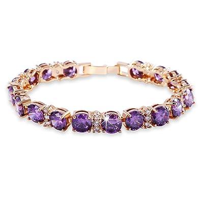 GULICX Swarovski Element Crystal Women Roman Bracelet Jewellery lT7GwVKp