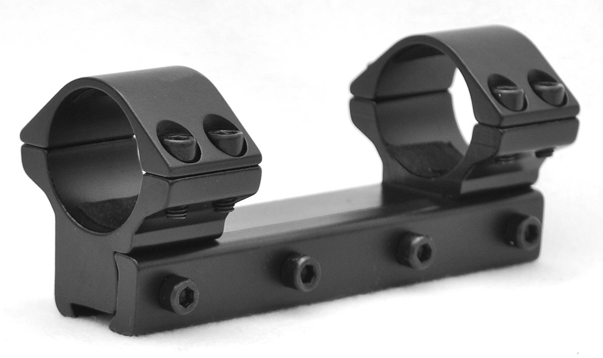 Hammers 1inch Medium Height One Piece Scope Mount with Stop Pin for High Power Magnum Airguns Air Rifles by Hammers