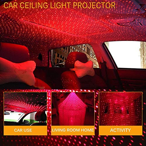 LED Car Atmospheres Starry Lamp Interior Ambient Star Light USB Romantic Decorative for Car//Home//Party WANGLAI Voiture USB Star Night Lights