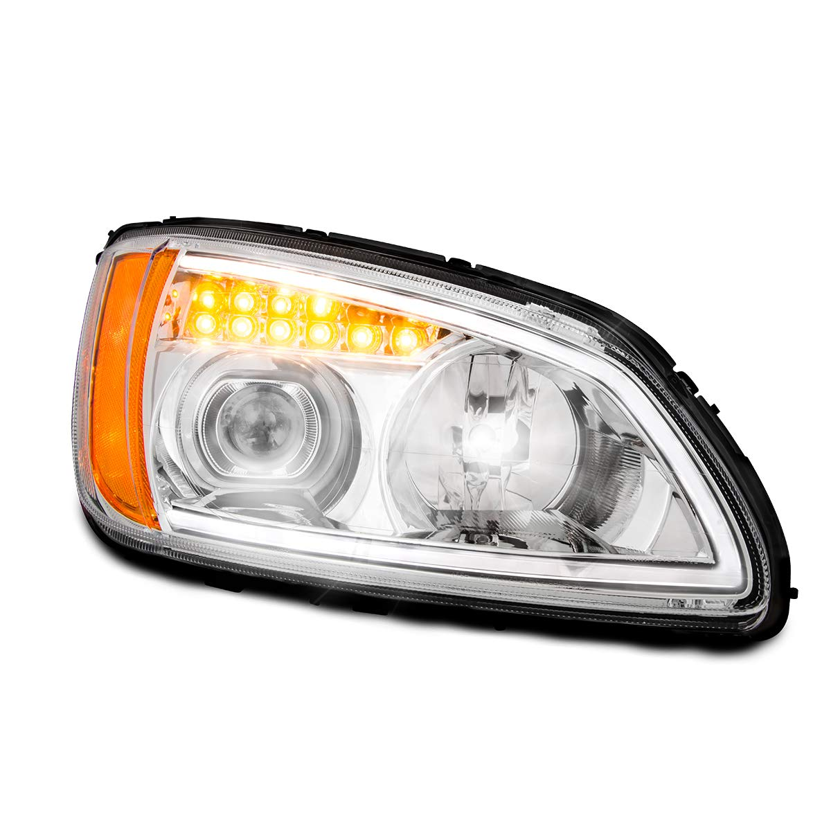 GG Grand General 89441 Headlight (Clear Projection with LED Turn/Position, P/S,Kw T660 08+) by GG Grand General