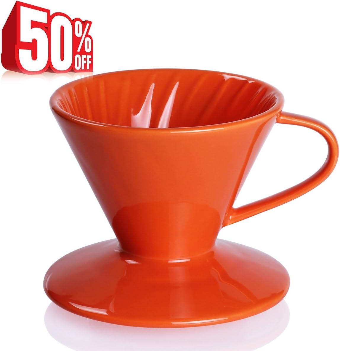 Filtro de goteo para cafetera de porcelana – por SWEESE naranja ...