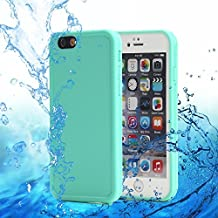 iPhone 6 Plus,iPhone 6s Plus,CROSSTREE waterproof protection up to a depth of 9.8ft for 30min, Dirtproof Full Sealed Case Cover for Apple iPhone 6 Plus/6S Plus 5.5 inch(Mint)