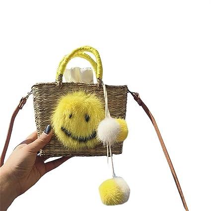 CHANLIFEN Womens Backpack Handbag Handbag Casual Straw Bag Beach Bag
