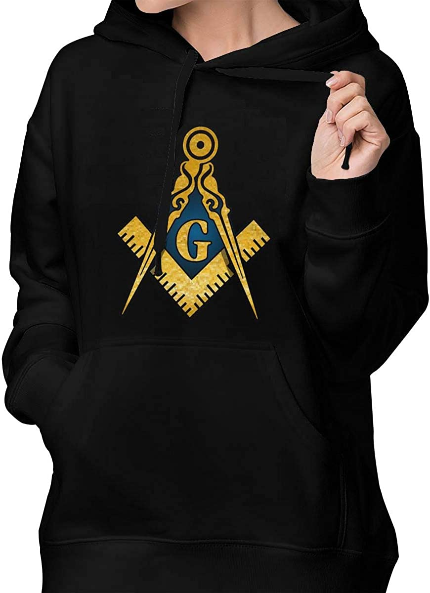 FJKL KLJF Freemason Womens Long Sleeve Sweatshirt Blouse Hooded Pullover Shirt