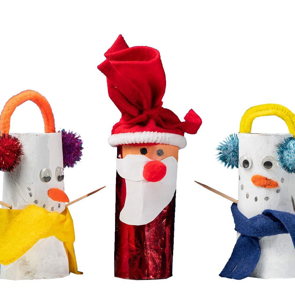 DEDC 30 Rollos de Tubo de Cart/ón de Papel de Kraft Artesanal Tubos de Pintura DIY para Manualidades Bricolaje Color Blanco
