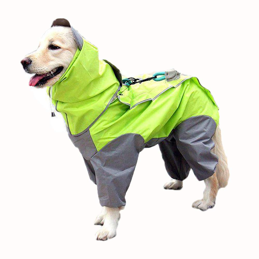 DJVD Dog Raincoat Waterproof Hooded Dog Clothes Rain Coat Cloak Camouflage For Small Large Puppy Pet Rainy With Hood
