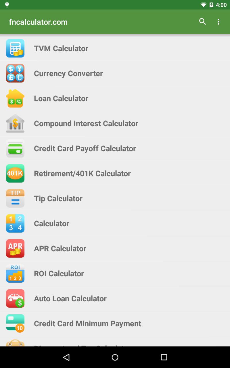 Amazon.com: Financial Calculators: Appstore for Android