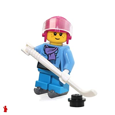 LEGO Holiday MiniFigure - Girl (with Scarf and Hockey Skates) 60133: Toys & Games