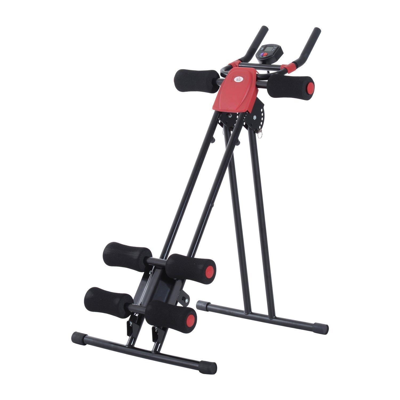 Homcom Máquina de Abdominales Plegable Aparato de Musculación Fitness Entrenamiento Pantalla LCD product image