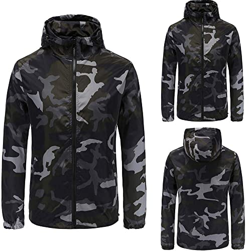 1fc8063746f41 Amiley mens hoodies,Men's Camo Hoodie Tops Casual Hooded Sweatshirt Outwear  Jacket Coat (4XL