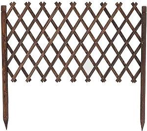 ZXFF Extended Fence Garden Fence Decorative Wooden Fence, Underground Wooden Trellis Frame for Outdoor Climbing Plants/Garden Fence Frame Lattice Panel (Size : H110xl180cm)