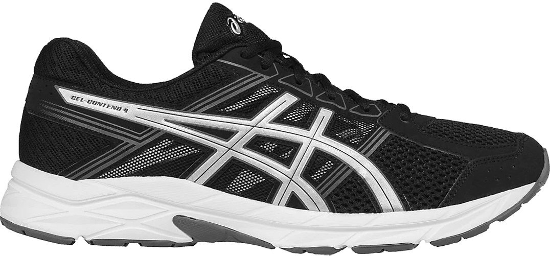 ASICS Men's Gel-Contend 4 Running Shoe, Black/Silver/Carbon, 10 M US by ASICS