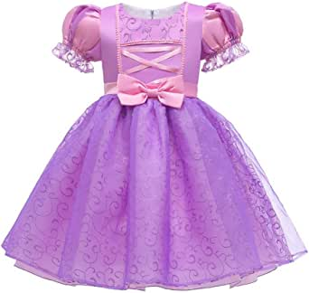 Sofia Rapunzel Princess Dress Girls Cosplay Costume Fancy Dress up Party Outfits Halloween Christmas Birthday Long Maxi Puffy Dresses Carnival Evening Floor Length Prom Ball Gown Photo Shoot for Kids
