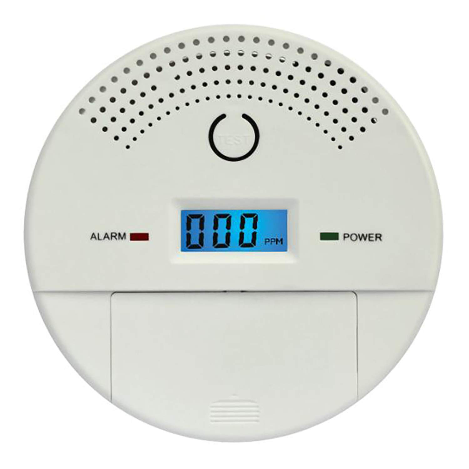 Combination Smoke Detector and Carbon Monoxide Alarm for Home, 9V Battery Operated Travel Portable Fire CO Alarm with Digital Display (1)