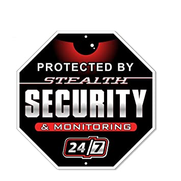 Signs Authority 24 Hour Security Alarm Yard Sign,