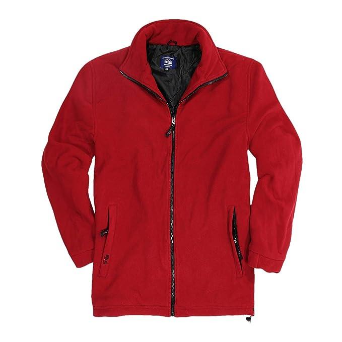 Brigg XXL Chaqueta de fleece roja: Amazon.es: Ropa y accesorios