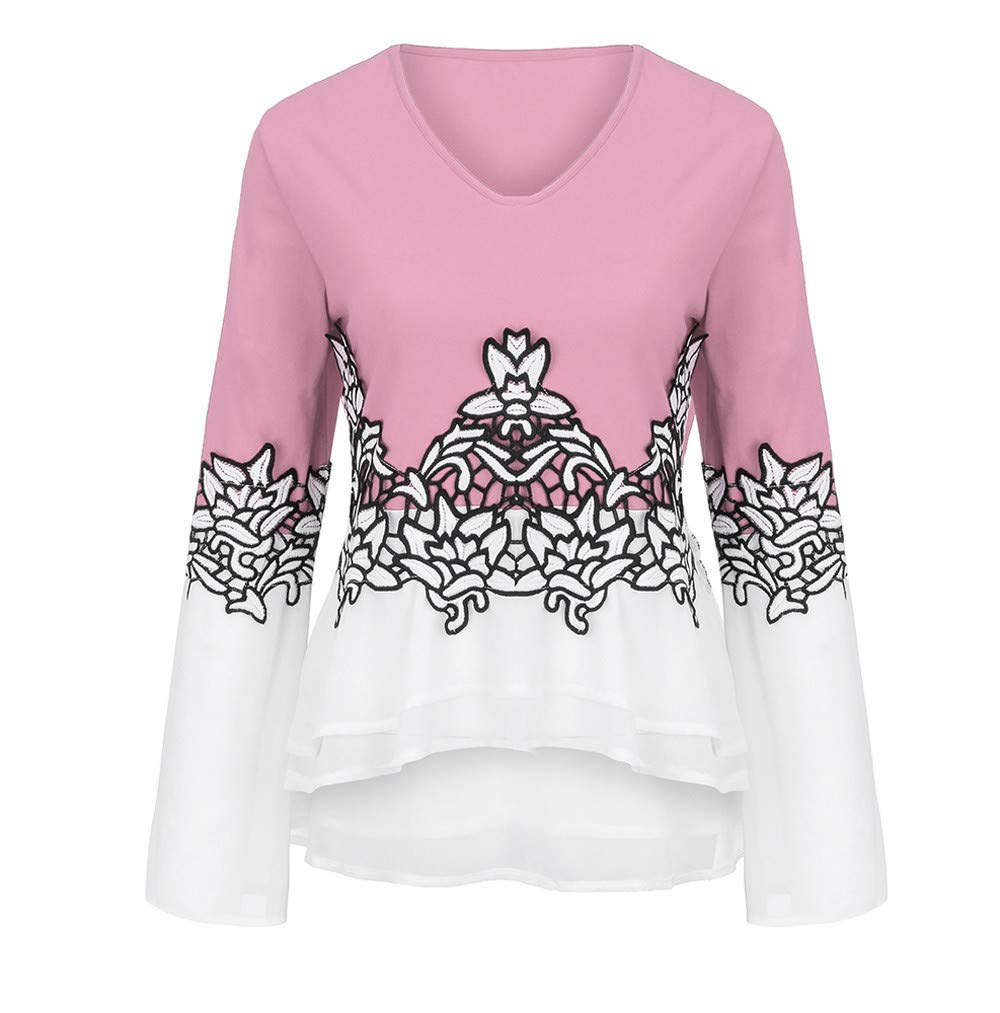 880e8bba859bb Seaintheson Women Tops Clearance Sale Fashion Casual Plus Size Blouses  Printed Flare Sleeve Clothing Keyhole T-Shirts  Amazon.com  Grocery    Gourmet Food