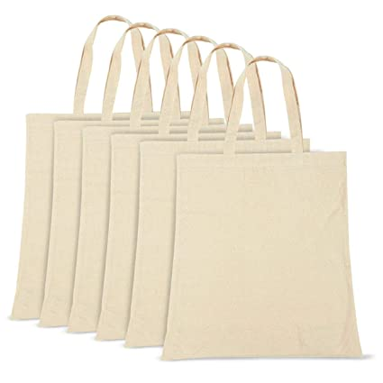 fa9357ed819e Image Unavailable. Image not available for. Color  6 Pack Cotton Canvas  Grocery ...