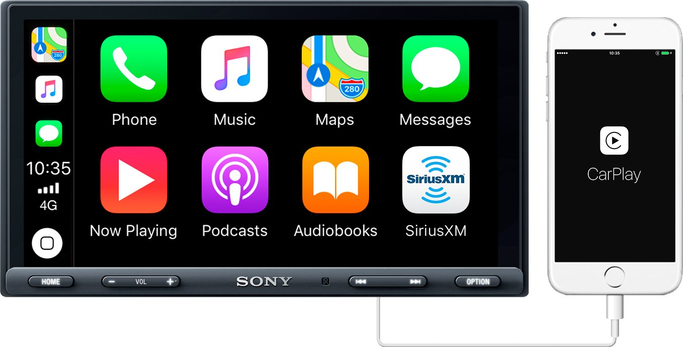 Sony Xav Ax5000 695 Carplay Android Auto Media 2000 Harley Wide Glide Wiring Diagram Receiver With Bluetooth Cell Phones Accessories