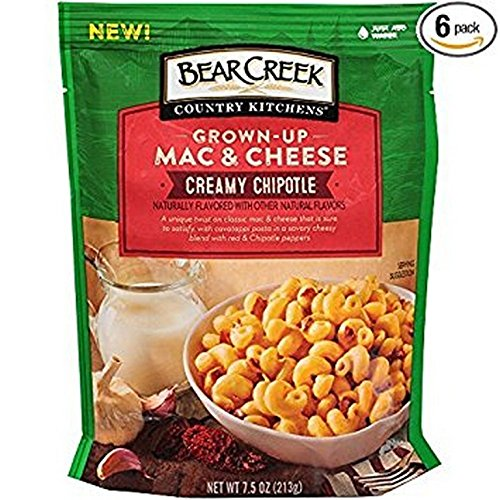 BEAR CREEK, MAC CHEESE, CREAMY CHIPOTL, Pack of 6, Size 7.50 OZ - No Artificial Ingredients