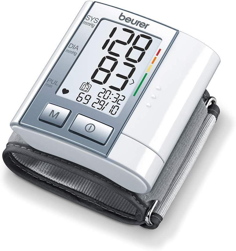 Beurer BC40 - Tensiómetro de muñeca, indicador OMS, pantalla LCD, apagado automático, memoria 60 mediciones, gris: Amazon.es: Salud y cuidado personal