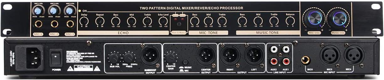 Depusheng V3800 Professional Digital Karaoke Processor Audio Processor Easy Operation Digital Family Karaoke KTV Prevent Howling Equalizer