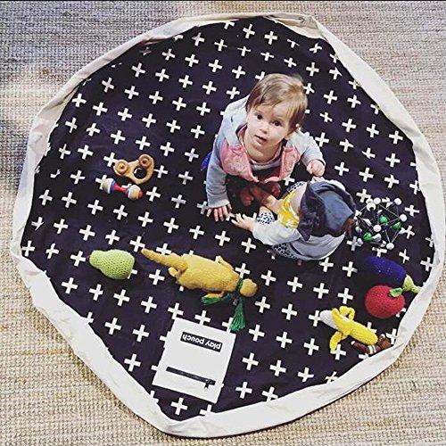 hiltow-large-children-designer-play-mat-and-toy-organizer-storage-55-bag-cross