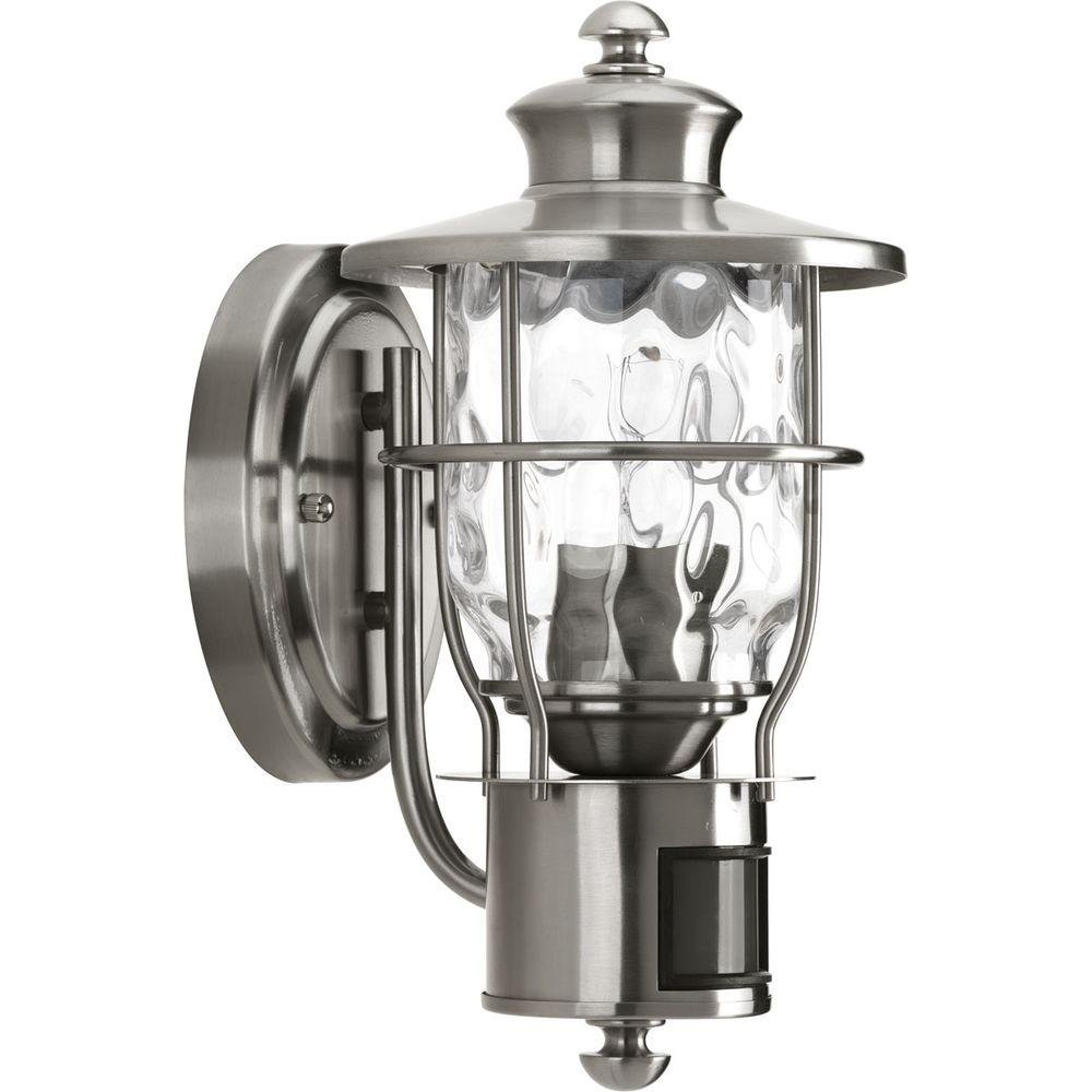 Progress Lighting Beacon Collection 1-Light Stainless Steel Motion Outdoor Wall Lantern