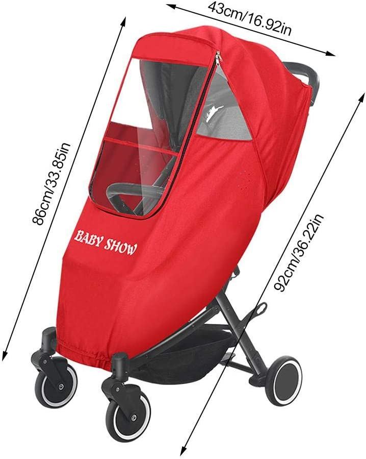 92x86x43cm Blueyouth Baby Car Rain Cover Universal Baby Carriage Rain Cover Child Stroller Windshield Umbrella Stroller Weather Shield Warm Cover Stroller Raincoat