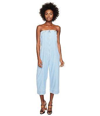 ab95db55430 Amazon.com  Vivienne Westwood Women s Juno Jumpsuit Blue Denim ...