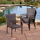 Christopher Knight Home Outdoor PE Wicker Stackable Arm Club Chairs (Set of 4) Review