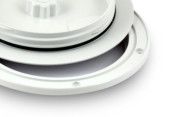 Inspektionsluke Nuova Rade 125 mm wei/ß rund mit Dichtring Revisionsdeckel