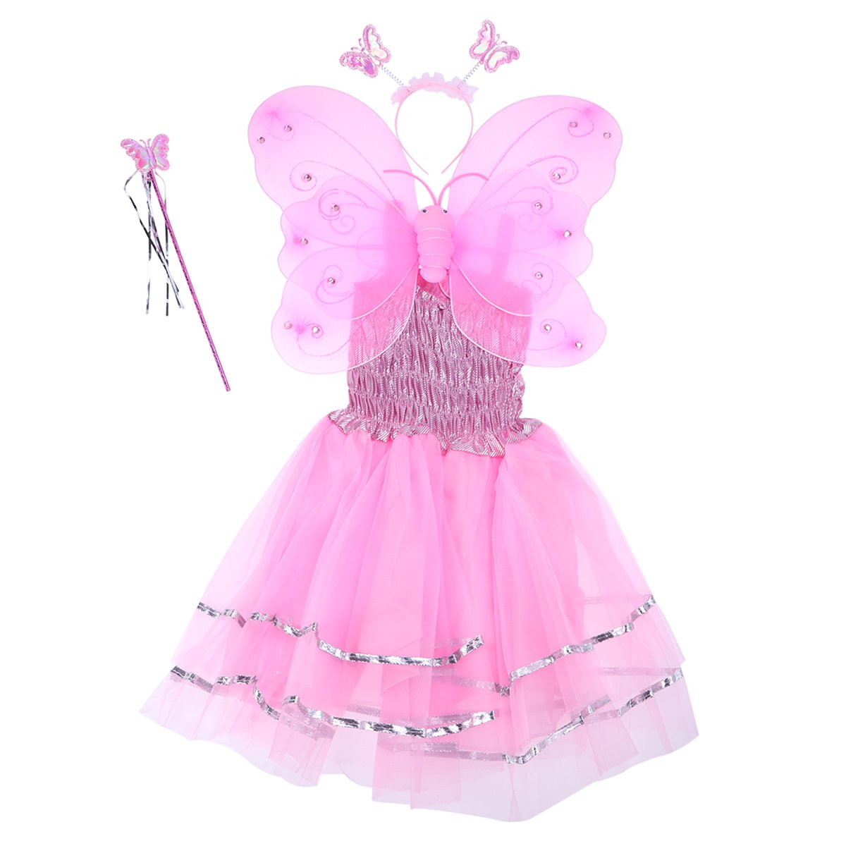 Kid Girls Baby Toddler Angel Wings Dress Tutu Skirt Cute Soft Wedding Party Club