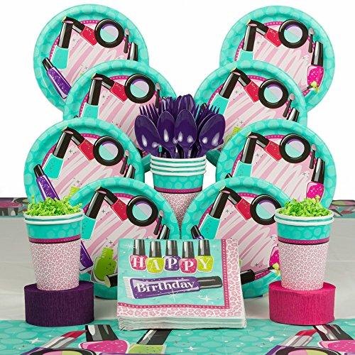 Costume SuperCenter Spa Birthday Party Deluxe Tableware Kit (Serves 8)