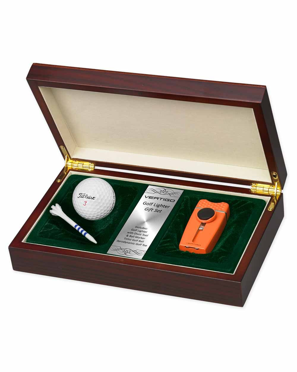 Tee Time Lighter Golf Gift Set with Ball and Tee in an Attractive Gift Box Lifetime Warranty