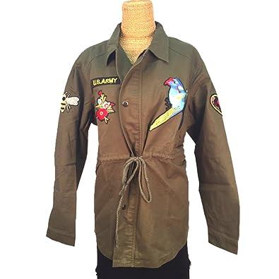 Amazon.com: Treska Bohemian Olive Green Jacket with ...