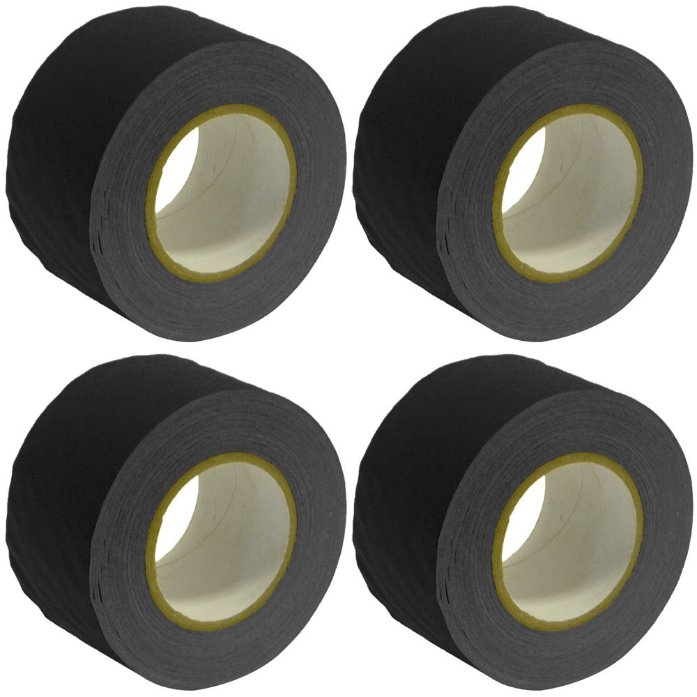 Seismic Audio - SeismicTape-Black603-4Pack - 4 Pack of 3 Inch Black Gaffer's Tape - 60 yards per Roll