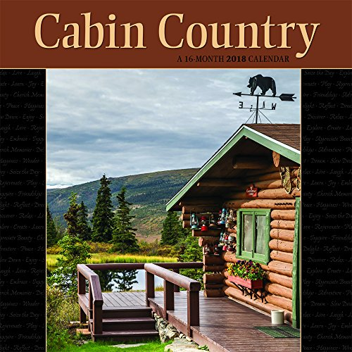 Cabin Country 2018 12 X 12 Inch Monthly Square Wall Calendar By Wyman, Outdoor Log Nature Rural
