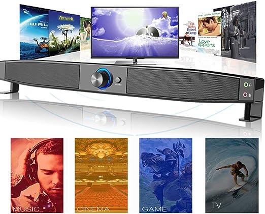WHCCL Barra de Sonido, TV Altavoz Bluetooth Altavoces duales portátiles Compatibilidad Inteligente AUX, para PC, teléfono Celular, proyector de tabletas (Soporte para Entrada de Audio de 3,5 mm): Amazon.es: Hogar