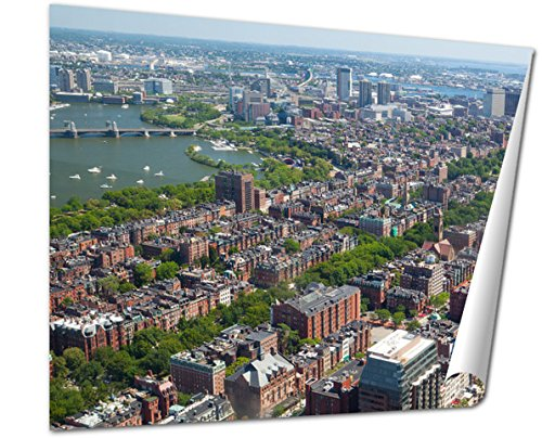 Ashley Giclee Fine Art Print, Aerial View Of Downtown Boston Prudential Tower Ma USA, 16x20, - Prudential Eye