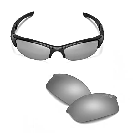 2f99293b370 Walleva Mr. Shield Titanium Polarized Replacement Lenses for Oakley Flak  Jacket  Amazon.ca  Sports   Outdoors