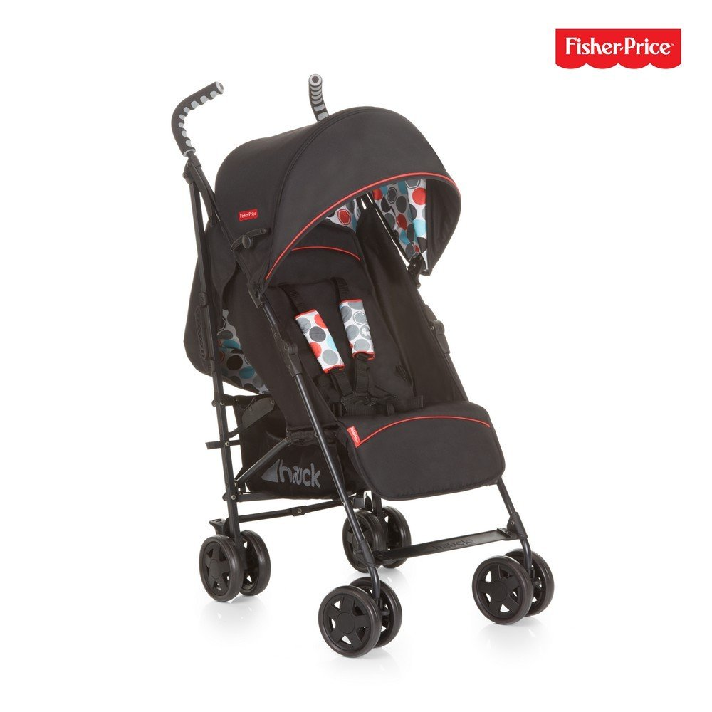 Hauck/Fisher Price Go-Guardian Palma Stroller/Small Folding Size/Ergonomic Handles/Practical Sun Canopy, Gumball Black by Hauck (Image #1)