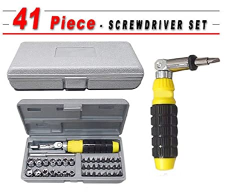 N M Z 41 Pieces Foldable Screwdriver Tool Kit and Socket Set