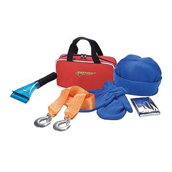 d78cfc473 Kit de emergencia y primeros auxilios para la carretera Noone, bolsa  naranja, contiene cables