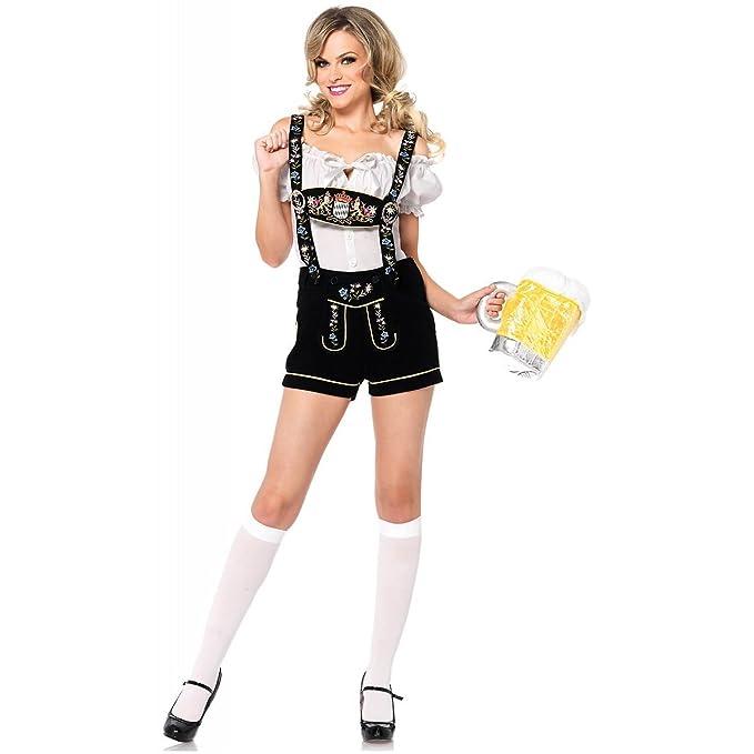 Amazon.com: Edelweiss Lederhosen disfraz – Pequeño – Tamaño ...